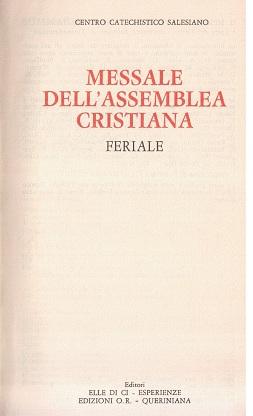 Messale dell'assemblea cristiana