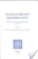 Chateaubriand mémoraliste