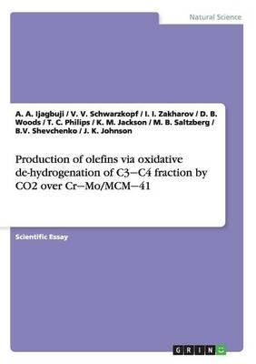 Production of olefins via oxidative de-hydrogenation of C3¿C4 fraction by CO2 over Cr¿Mo/MCM¿41