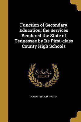 FUNCTION OF SECONDARY EDUCATIO