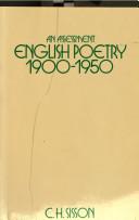 English Poetry, 1900-1950
