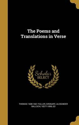 POEMS & TRANSLATIONS IN VERSE