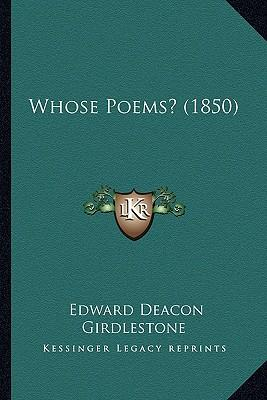 Whose Poems? (1850)