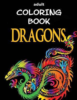 Adult Coloring Book - Dragons