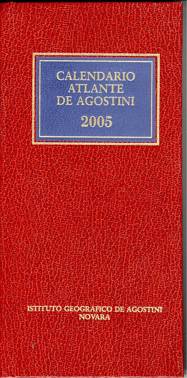 Calendario atlante De Agostini 2005
