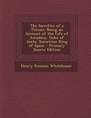 The Sacrifice of a Throne