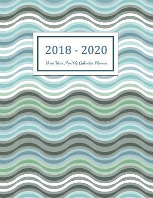 2018 - 2020 Three Year Monthly Calendar Planner