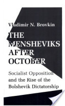 The Mensheviks After October