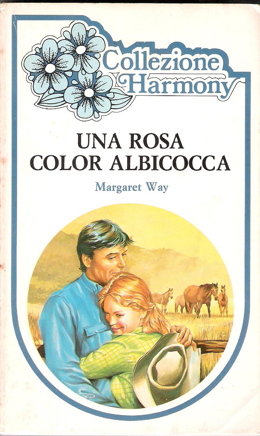 Una rosa color albicocca