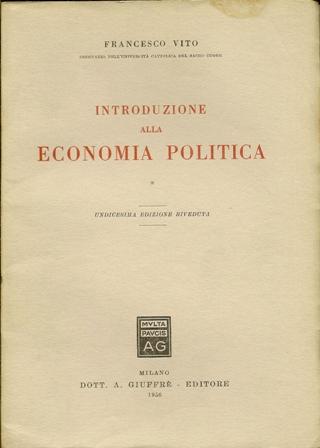 Introduzione alla economia politica