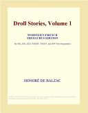 Droll Stories, Volume 1 (Webster's French Thesaurus Edition)