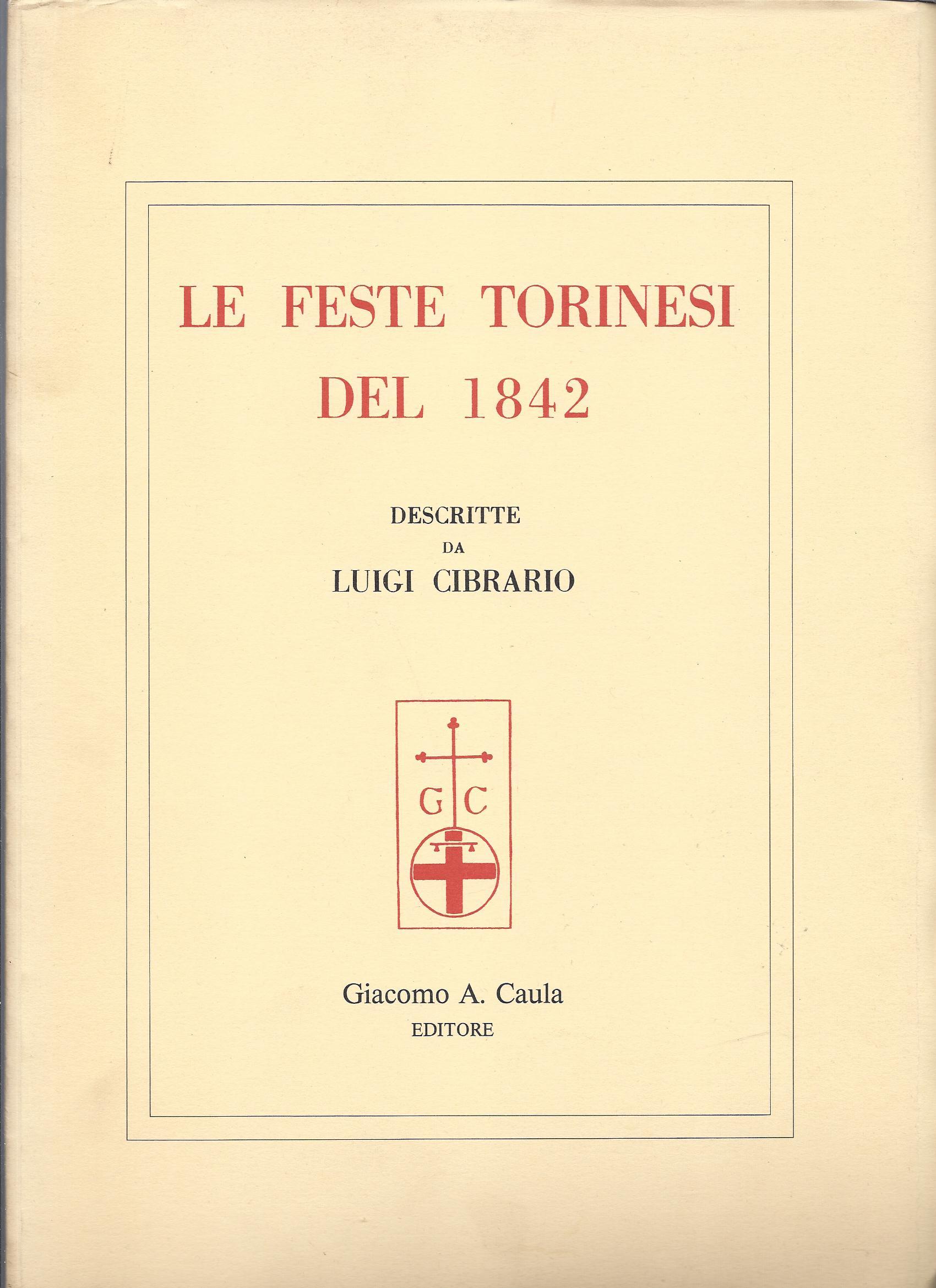 Le feste torinesi del 1842