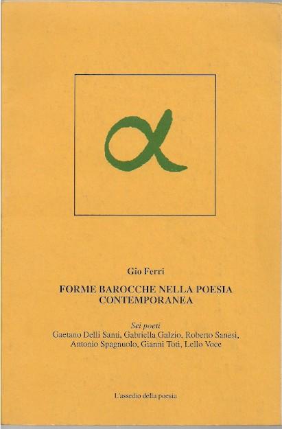 Forme barocche nella poesia contemporanea