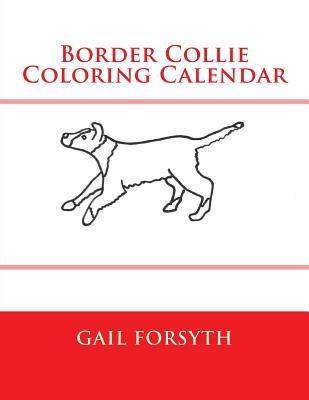 Border Collie Coloring Calendar