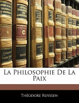 Philosophie de La Paix
