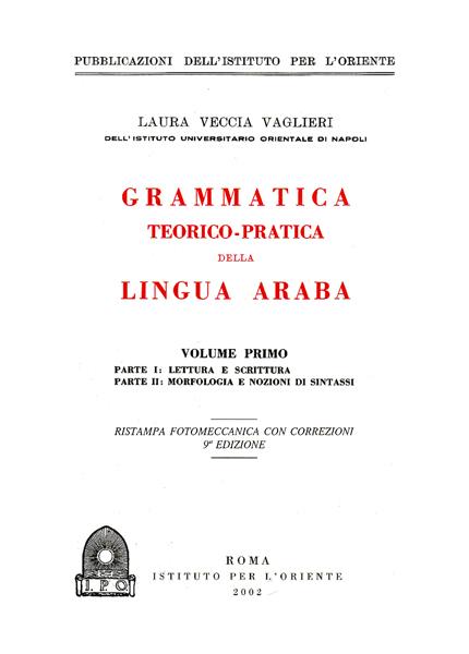 Grammatica teorico-pratica della Lingua Araba