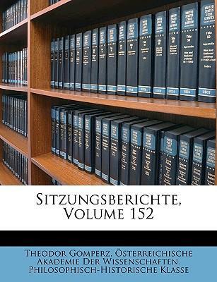 Sitzungsberichte, Volume 152
