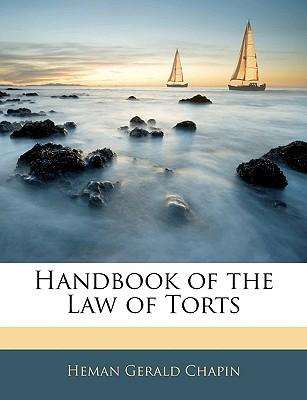 Handbook of the Law of Torts
