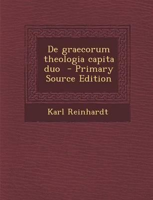de Graecorum Theologia Capita Duo