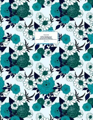 Teal Floral Journal