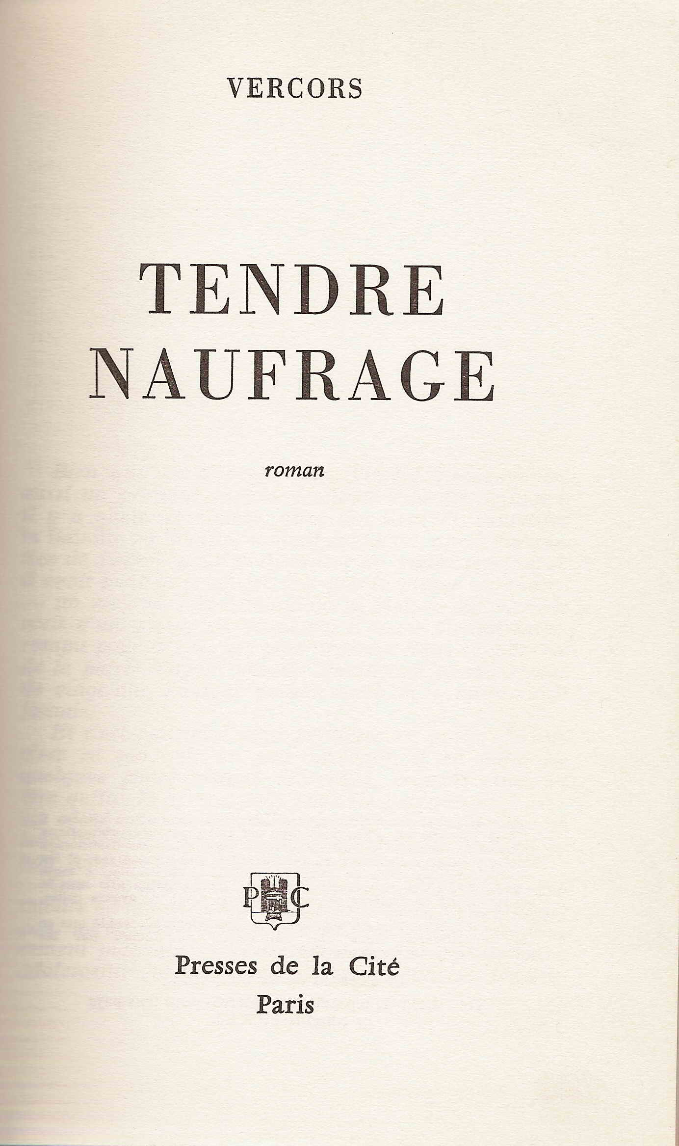 Tendre Naufrage