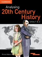 Analysing Twentieth Century History, Units 1 & 2