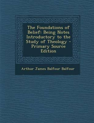 The Foundations of Belief