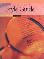 Franklin Covey Style Guide with CD