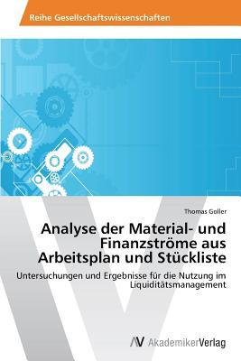 Analyse der Material- und Finanzströme aus Arbeitsplan und Stückliste