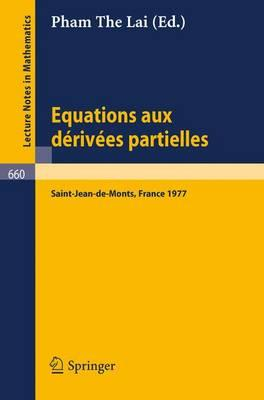 Equations Aux Derivees Partielles/ Partial Differential Equations