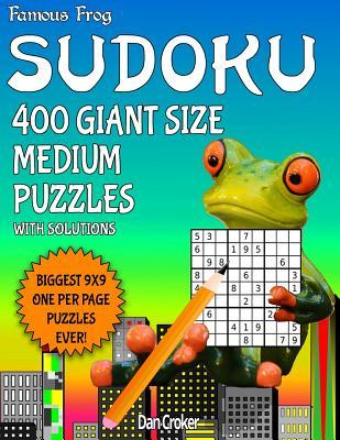 Famous Frog Sudoku 200 Giant Size Medium Puzzles Biggest 9 X 9 One Per Page Puzzles Ever!