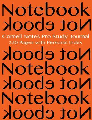 Cornell Notes Pro Study Journal 250 pages with Personal Index