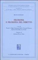 Filosofia e filosofia del diritto