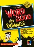 Word 2000 für Dummies