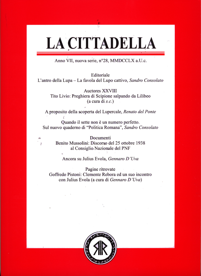 La Cittadella n°28, MMDCCLX a.U.C.