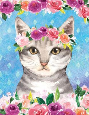 My Big Fat Journal Notebook For Cat Lovers Tabby In Flowers