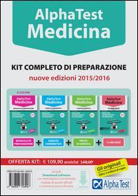 Alpha test. Medicina, odontoiatria, veterinaria. Kit completo di preparazione. Con test di simulazione