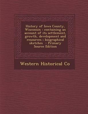 History of Iowa County, Wisconsin