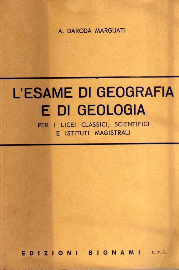 L'esame di geografia e di geologia