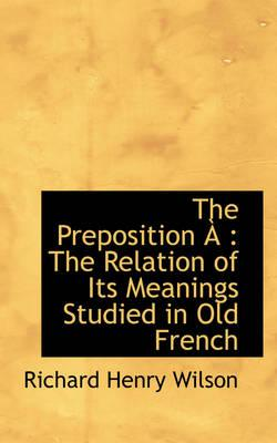 The Preposition +a