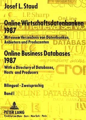 Online Wirtschaftsdatenbanken 1987- Online Business Databases 1987