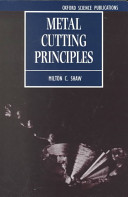 Metal Cutting Principles