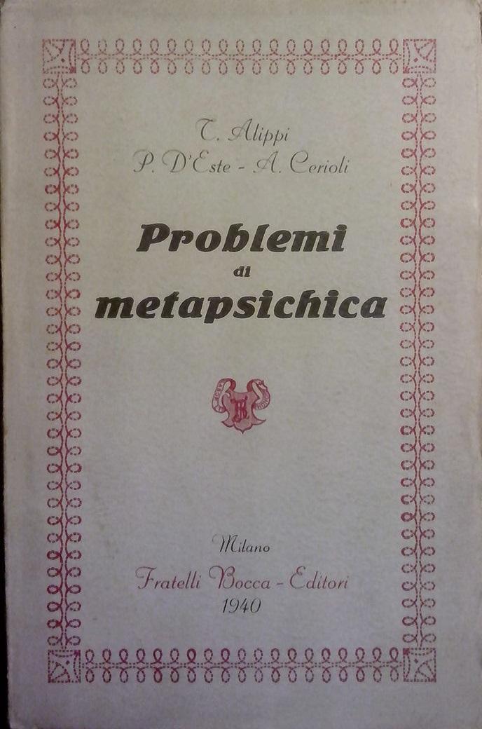 Problemi di metapsichica