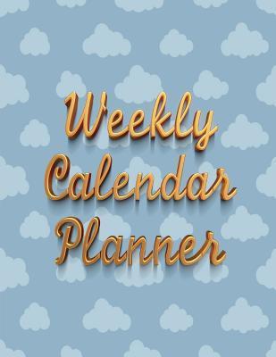 Weekly Calendar Planner - 70 Weeks - (8.5 X 11) - Blue Cloud Design