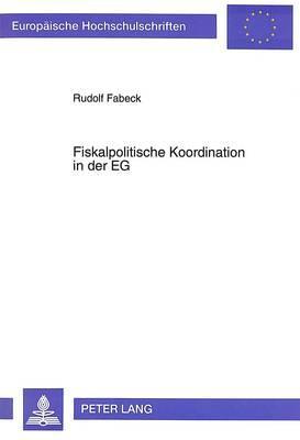 Fiskalpolitische Koordination in der EG