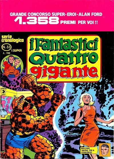 I Fantastici Quattro Gigante n. 33