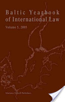 Baltic Yearbook of International Law, Volume 5 (2005)