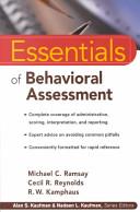 Essentials of behavioral assessment