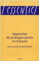 Approches de la langue parlée en français