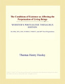 The Conditions of Existence as Affecting the Perpetuation of Living Beings (Webster's Portuguese Thesaurus Edition)